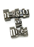Naughty or Nice? Stock Images