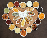 Naughty but Nice Food Stock Images