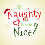 Naughty is Nice Stock Photography