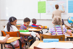 Naughty pupil in class. At the elementary school Stock Image