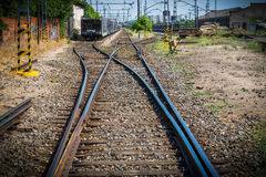 Naughty. Routes of train out of use Royalty Free Stock Photo
