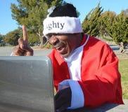 Black Santa royalty free stock images