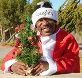 Black Santa Stock Photo
