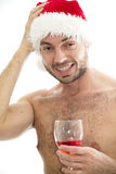 Naughty santa Stock Image
