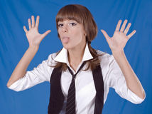 Naughty school girl Royalty Free Stock Image