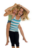 Naughty sisters having fun Royalty Free Stock Images