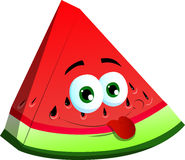 Naughty slice of watermelon Royalty Free Stock Images