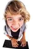 Naughty teen boy Royalty Free Stock Photo