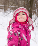 Naughty winter girl Stock Photography