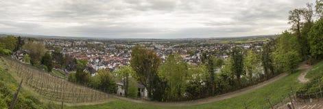 Nauheim mau Hessen Alemanha de cima do panorama alto da definição Foto de Stock