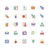 Nauk Barwione Wektorowe ikony 4 Zdjęcia Royalty Free