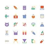 Nauk Barwione Wektorowe ikony 6 Zdjęcie Royalty Free