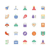 Nauk Barwione Wektorowe ikony 10 Fotografia Stock