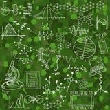 Nauka bezszwowy wzór z nakreślenie elementami Obrazy Stock