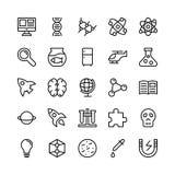 Nauka I Technika Kreskowe Wektorowe ikony 4 royalty ilustracja