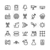 Nauka I Technika Kreskowe Wektorowe ikony 14 ilustracji