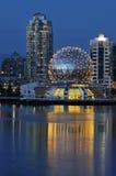 nauka kopuły Vancouver linii geodezyjnej, aż do punktu świat Fotografia Royalty Free