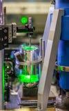 Nauka lasery na próbnej ławce Zdjęcie Royalty Free