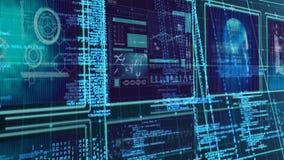 Nauka składu nauki diagramy łączący z animowanym kodującym teksta lataniem od takielunku zbiory wideo