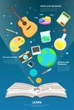 Nauka, sztuka, maths i twórczości narzędziowa ikona, latamy od o Obraz Stock