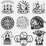 Nauka wektoru etykietek projekt Domowy eksperyment i nauka dla dzieciaków Obraz Royalty Free