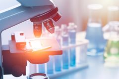 Nauki badania medyczne lab Chemiczni narzędzia Obrazy Stock