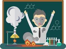 Nauki chemii zły eksperyment Zdjęcie Royalty Free