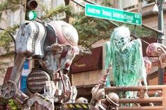 Nauki fikci istot strachu ludzie Przy Atlanta smoka przeciwu paradą Zdjęcia Stock