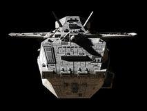 Nauki fikci Międzyplanetarny śmigłowiec szturmowy - Frontowy widok royalty ilustracja