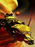 Nauki fikci statek kosmiczny royalty ilustracja