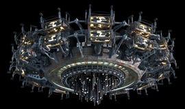Nauki fikci statek kosmiczny Zdjęcie Royalty Free
