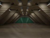 Nauki fikci wewnętrzna scena - sci fi korytarz Obrazy Stock