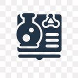 Nauki książkowa wektorowa ikona odizolowywająca na przejrzystym tle, Sci ilustracja wektor