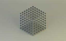 Nauki molekuły modela struktury tła abstrakt Fotografia Royalty Free