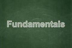 Nauki pojęcie: Podstawy na chalkboard tle ilustracja wektor