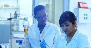 Naukowa doświadczalnictwo w laboratorium 4k zbiory