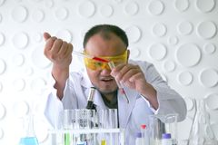Naukowa eksperyment w laboranckiej nauce obrazy stock