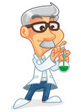 Naukowa postać z kreskówki Zdjęcia Stock