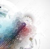 Naukowa Przyszłościowa technologia Dla Biznesowej prezentaci Obraz Royalty Free