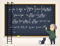 Naukowiec blisko blackboard Zdjęcia Stock