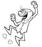 naukowiec szczęśliwy ilustracja wektor