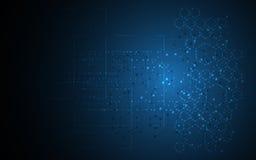 Naukowy cząsteczkowej struktury projekta techniki innowaci sci fi pojęcia tło ilustracji
