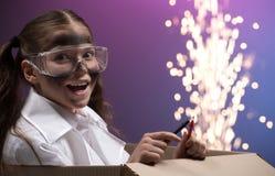 Naukowy eksperyment. fotografia stock