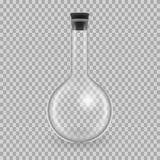 Naukowy glassware, próbne tubki Realistycznych szablonów round kolba, mockup ilustracja wektor