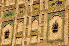 Naulakha Pavilion decoration Lahore fort, Pakistan Royalty Free Stock Photography