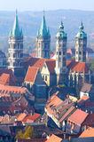 Naumburg Cathedral, Saxony-Anhalt, Germany. St. Peter and Paul's Cathedral in Naumburg town (known in German as the Naumburger Dom); aerial view Royalty Free Stock Photography