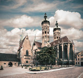 Naumburg Cathedral, tinted image. Naumburg Cathedral in Saxony-Anhalt, Germany, tinted image Stock Photography