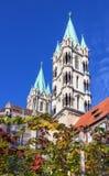 Naumburger大教堂,德国 库存图片