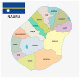 Nauru administrative and political map with flag. Nauru administrative and political vector map with flag Stock Photography