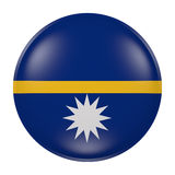 Nauru button on white background. 3d rendering of a Nauru flag on a button Stock Images